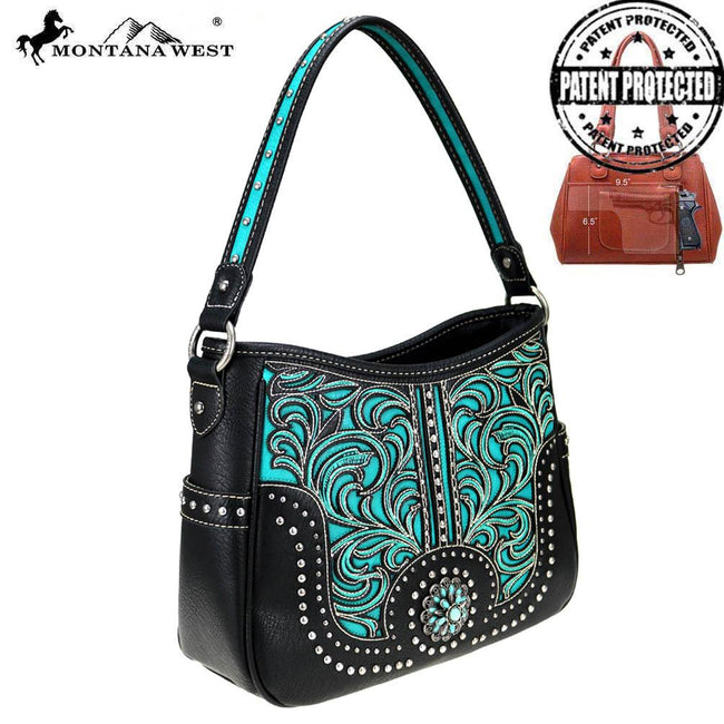 MW783G-916 Montana West Concho Collection Concealed Carry Hobo
