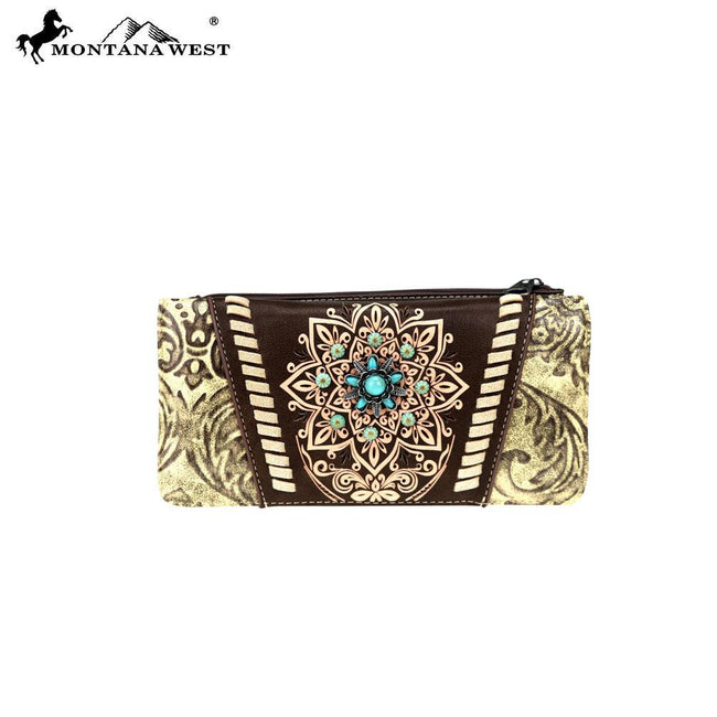 MW784-W021 Montana West Concho Collection Wallet