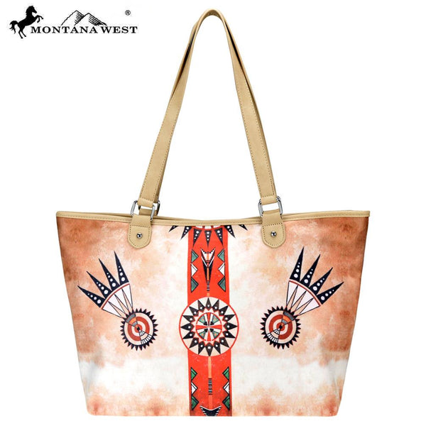 MW788-8581 Montana West Aztec Collection Fabric Wide Tote