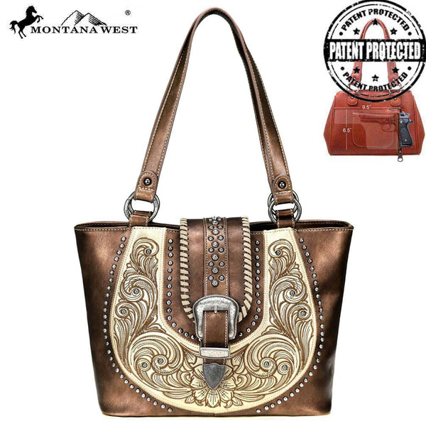 MW799G-8317 Montana West Buckle Collection Concealed Carry Tote