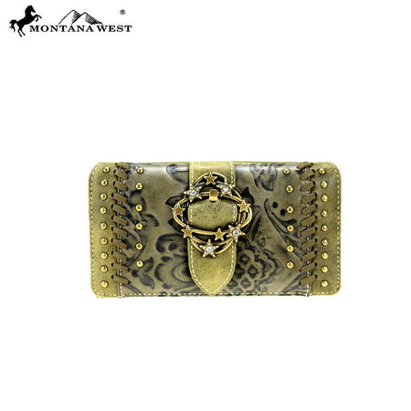 MW167-W003 Montana West Concho Collection Wallet