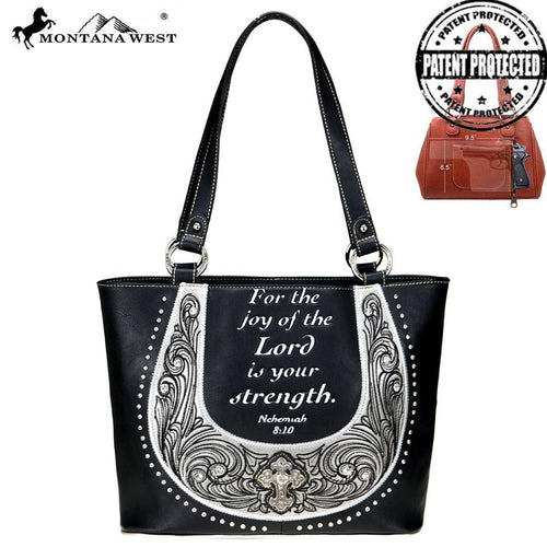 MW806G-8317  Montana West Scripture Bible Collection Concealed Carry Tote