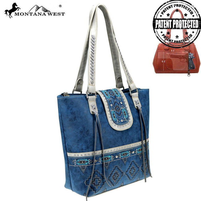 MW808G-8317 Montana West Aztec Collection Concealed Carry Tote