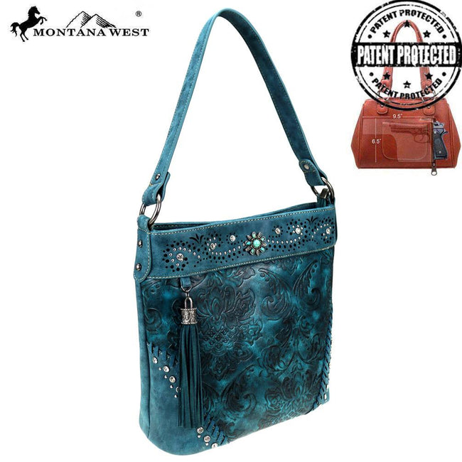 MW817G-918 Montana West Tooled/Embossed Collection Concealed Carry Hobo