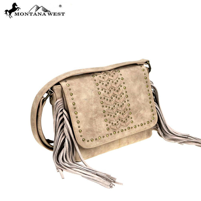 MW818-8360 Montana West Fringe Collection Crossbody Bag