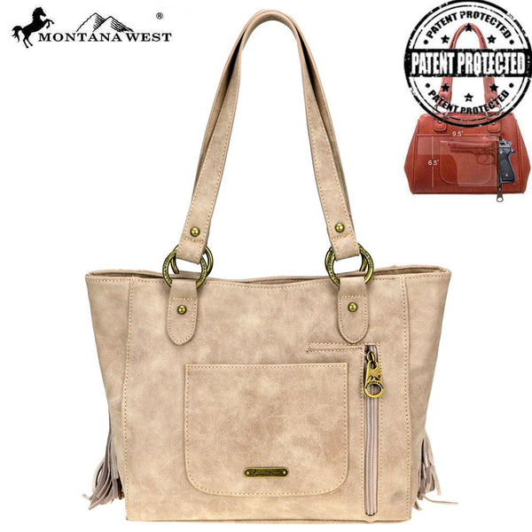 MW818G-8317 Montana West Fringe Collection Concealed Carry Tote