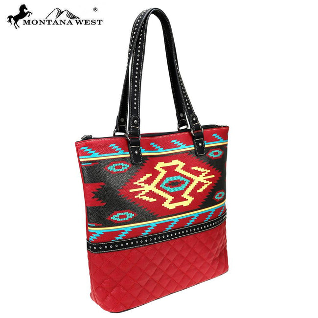 MW833-8113 Montana West Aztec Collection Tote