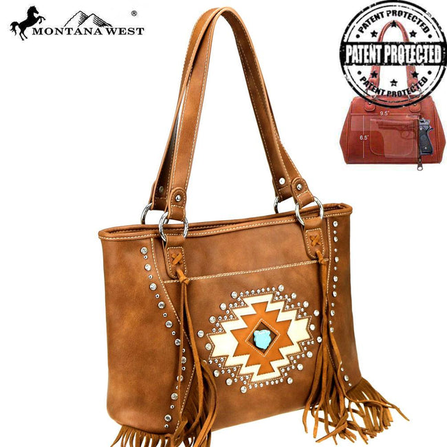MW841G-8317 Montana West Aztec Collection Concealed Carry Tote