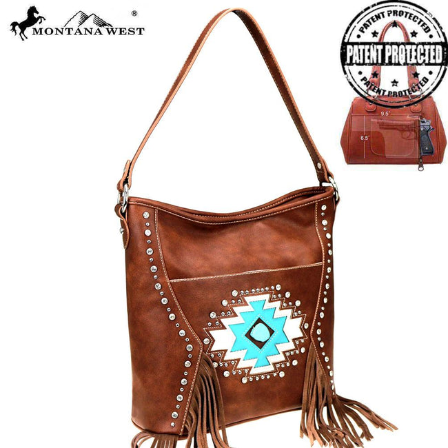 MW841G-918 Montana West Aztec Collection Concealed Carry Hobo
