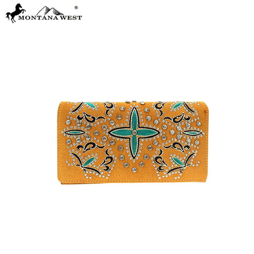 MW852-W010 Montana West Embroidered Collection Secretary Style Wallet