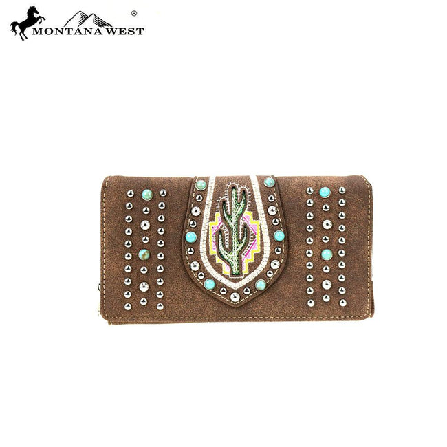 MW860-W010 Montana West Cactus Collection Wallet