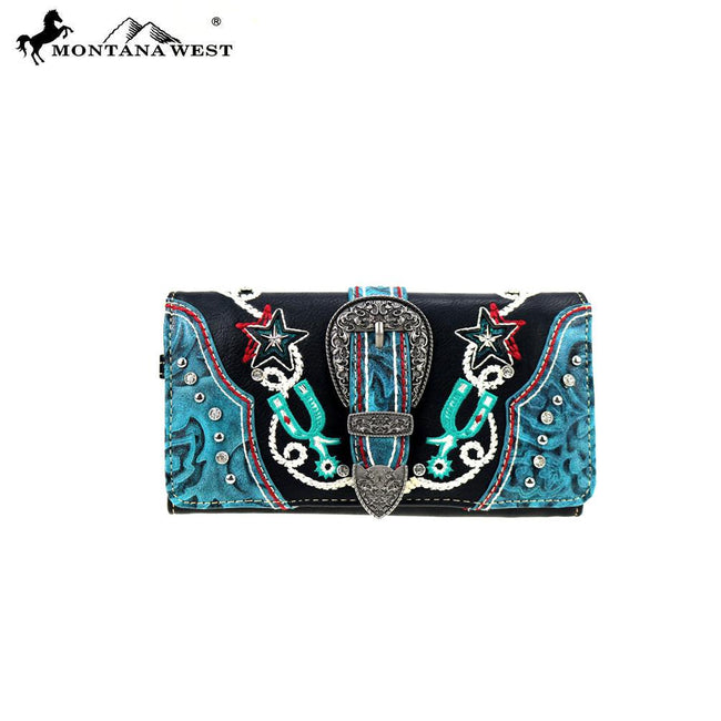 MW861-W018  Montana West Buckle Collection Wallet/Wristlet