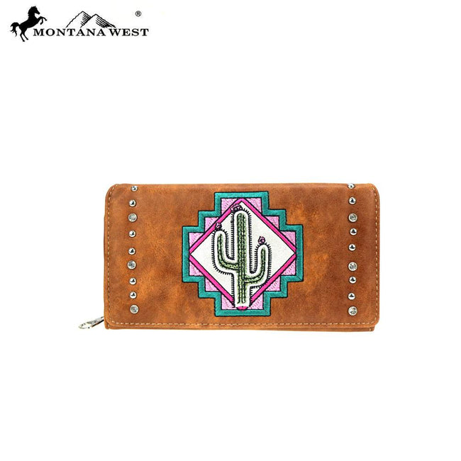 MW865-W010 Montana West Aztec Collection Secretary Style Wallet