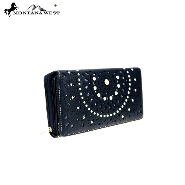 MW867-W010 Montana West Bling Bling Collection Wallet