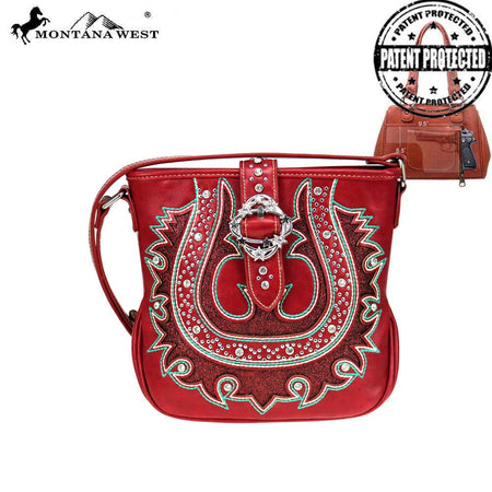 MW803G-918 Montana West Buckle Collection Concealed Carry Hobo