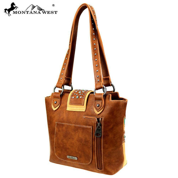 MW881G-8317 Montana West Concho Collection Concealed Carry Tote