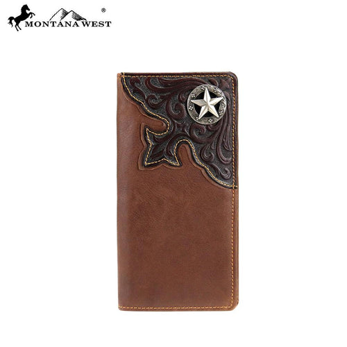 MWL-W009 Genuine Tooled Leather Collection Men's Wallet