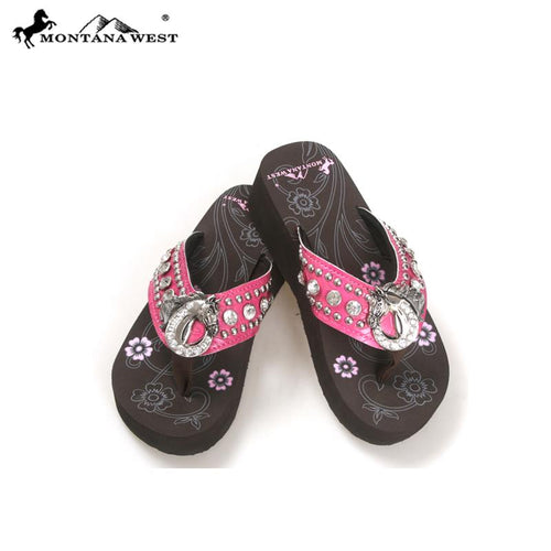 NT-S087 Montana West Concho Flip Flops Collection By Size