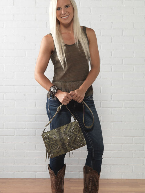 American West - Nomad Heart Zip Top Crossbody Bag