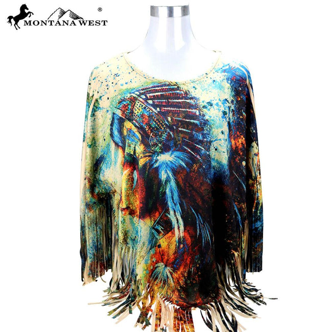 PCH-1673 Montana West Native American Collection Poncho