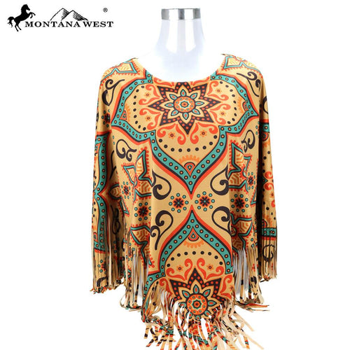 PCH-1683 Montana Aztec Collection Poncho