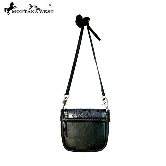 RLC-L089 Montana West Real Leather Collection Crossbody