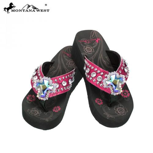 SAD-S008 Cross Concho Collection Flip Flops