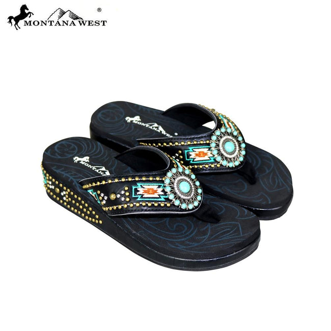 SE60-S159 Montana West Aztec Flip-Flops Collection