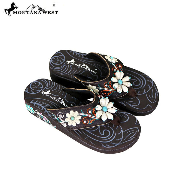 335f5f4160 SE61-S160 Montana West Floral Flip-Flops Collection BY CASE ...