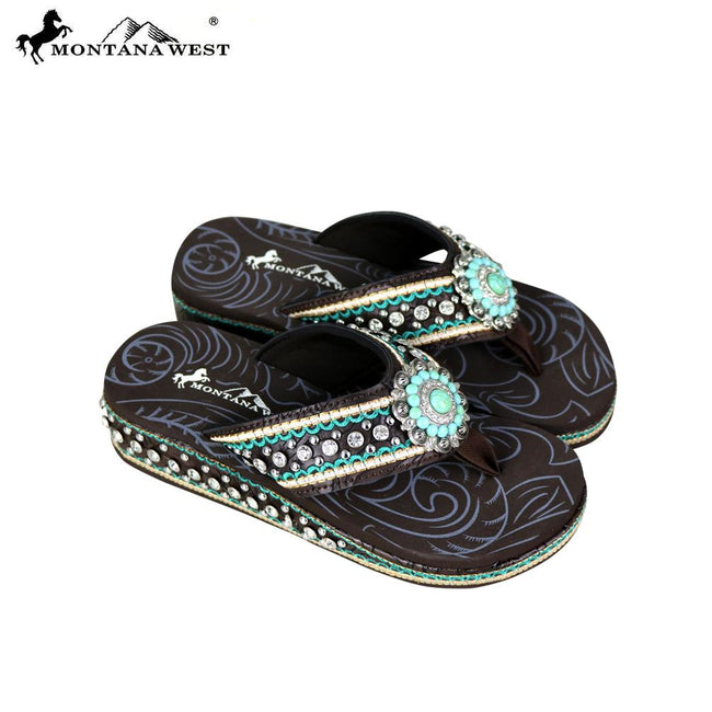 SE70-S096 Montana West Bling Bling Flip-Flops Collection By Size