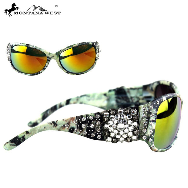 SGS-104F Montana West Camo Square Concho Sunglasses