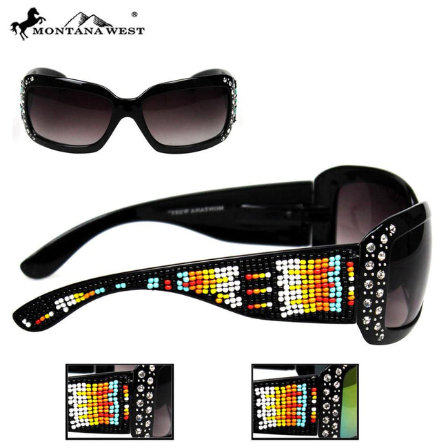 SGS-21B Montana West Aztec Hand-Beaded Sunglasses