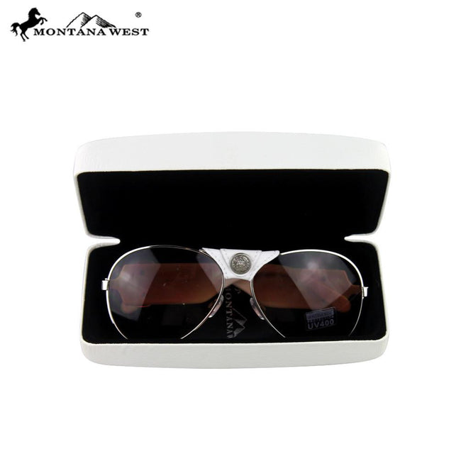 SGS-3704 Montana West Spiritual Collection Aviator Sunglasses