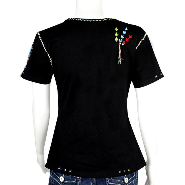 ST-601 Hand Embroidered Indian Warrior T-Shirt Collection