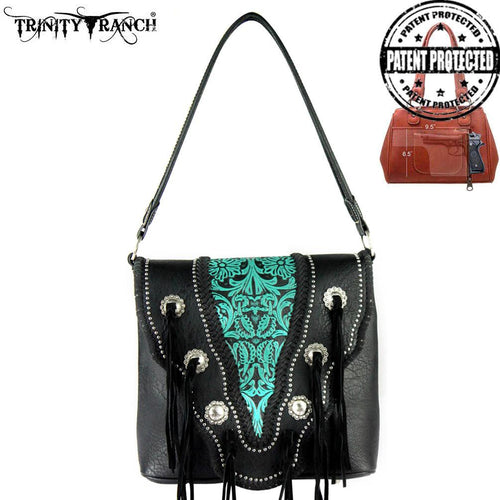 TR34G-116 Trinity Ranch Tooled Collection Concealed Handgun Handbag