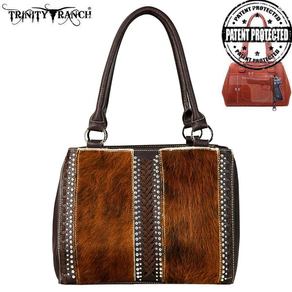 TR44G-8292 Trinity Ranch Genuine Hair-On Concealed Handgun Collection Satchel