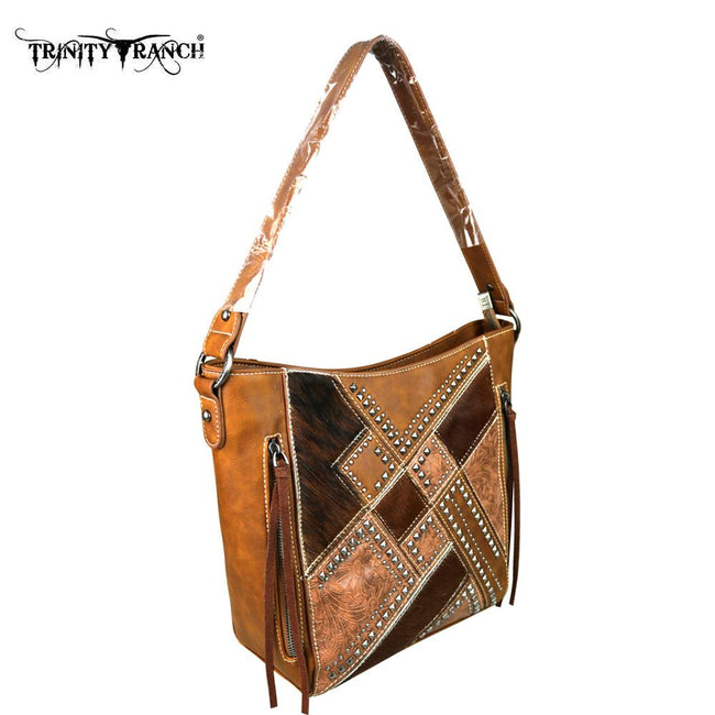 TR51-916 Trinity Ranch Hair-On Collection Hobo Bag
