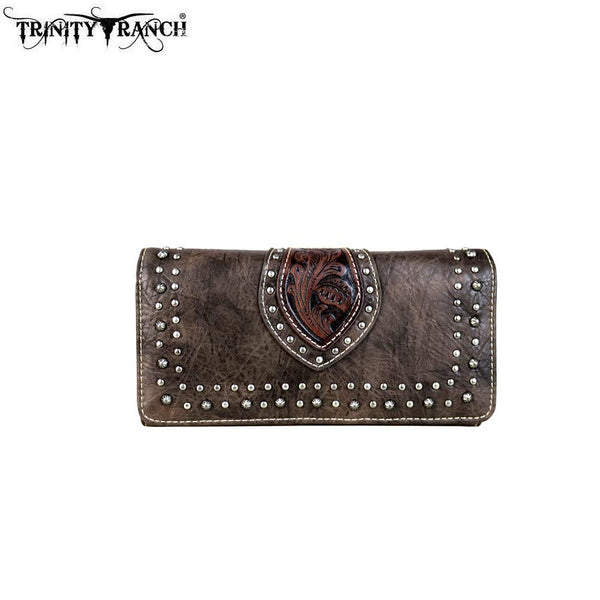 TR57-W018 Trinity Ranch Tooled Design Collection Wallet