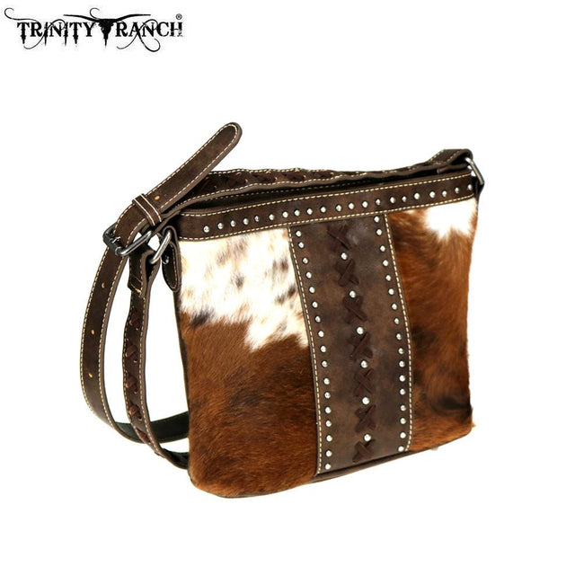 TR76-8360 Trinity Ranch Hair-On Leather Collection Crossbody Bag