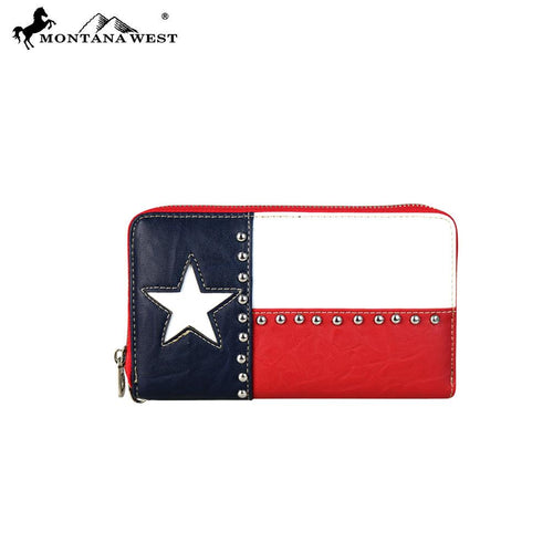 TX-W003K  Montana West Texas Pride Collection Wallet