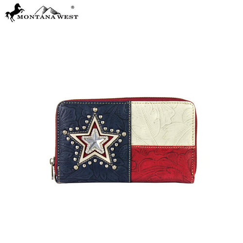 TX03-W003 Montana West Texas Pride Collection Wallet