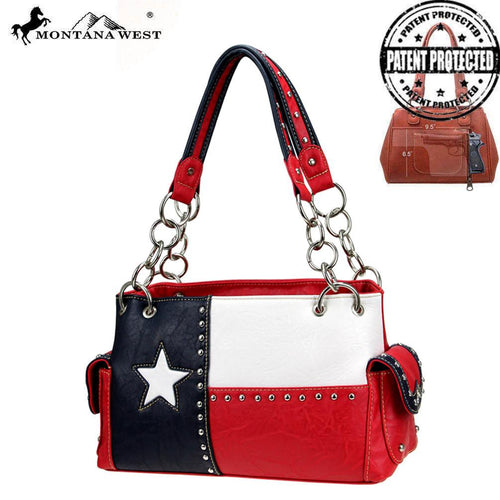 TXG-8085K Montana West Texas Pride Collection Concealed Handgun Satchel