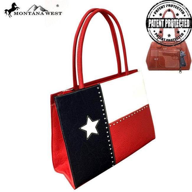 TXG-816K  Montana West Texas Pride Collection Concealed Carry Wide Tote