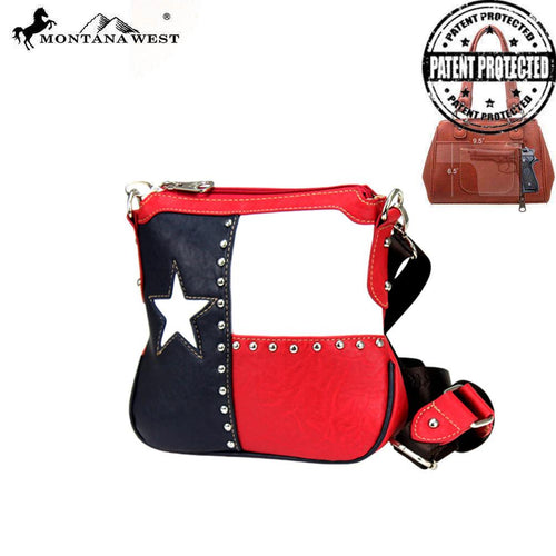 TXG-8295K Montana West Texas Pride Collection Concealed Handgun Crossbody