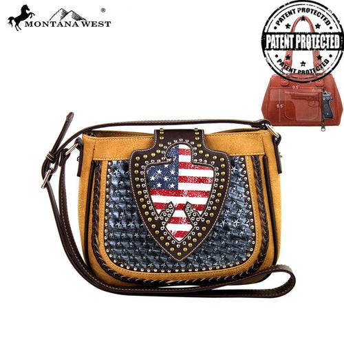 US03G-8287 Montana West American Pride Concealed Handgun Collection Messenger Bag