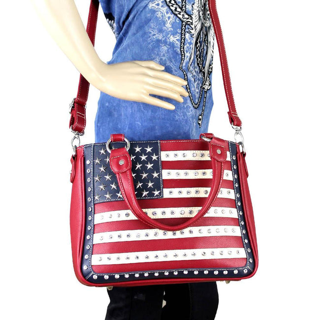 US04G-8260 Montana West American Pride Concealed Handgun Collection Handbag