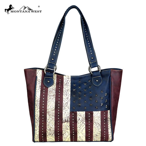 US14G-8305  Montana West American Pride Collection Concealed Handgun Tote Bag
