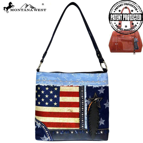 US15G-121 Montana West American Pride Collection Concealed Carry Hobo