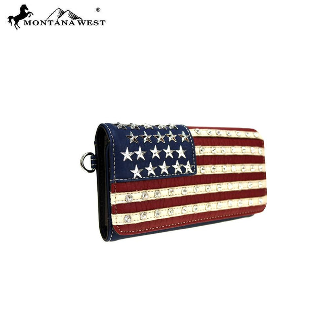 US19-W018 Montana West American Pride Collection Secretary Style Wallet