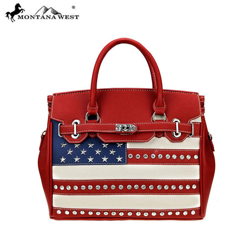 US20-811 Montana West American Pride Collection Tote/Crossbody